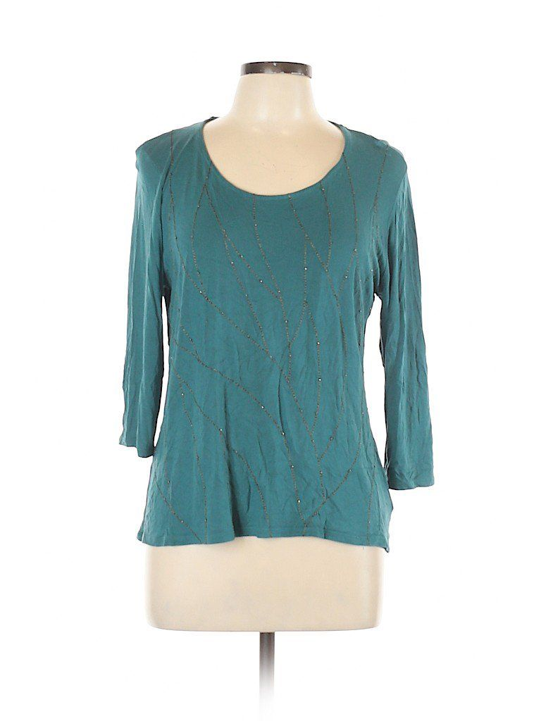 b34cb174 3/4 Sleeve Top in 2019 | THRED UP- FASHION & NAME BRANDS FOR LESS ...