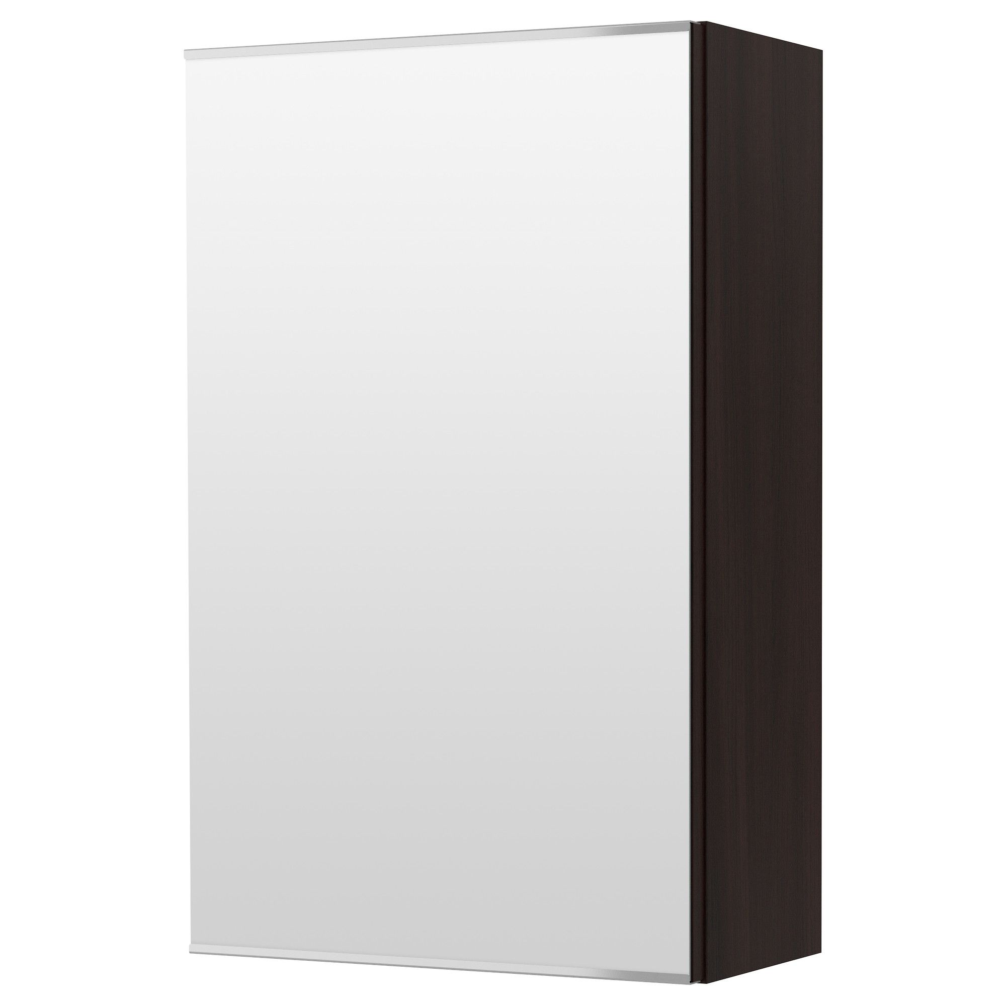 LILLÅNGEN Mirror Cabinet With 1 Door, Black-brown Black