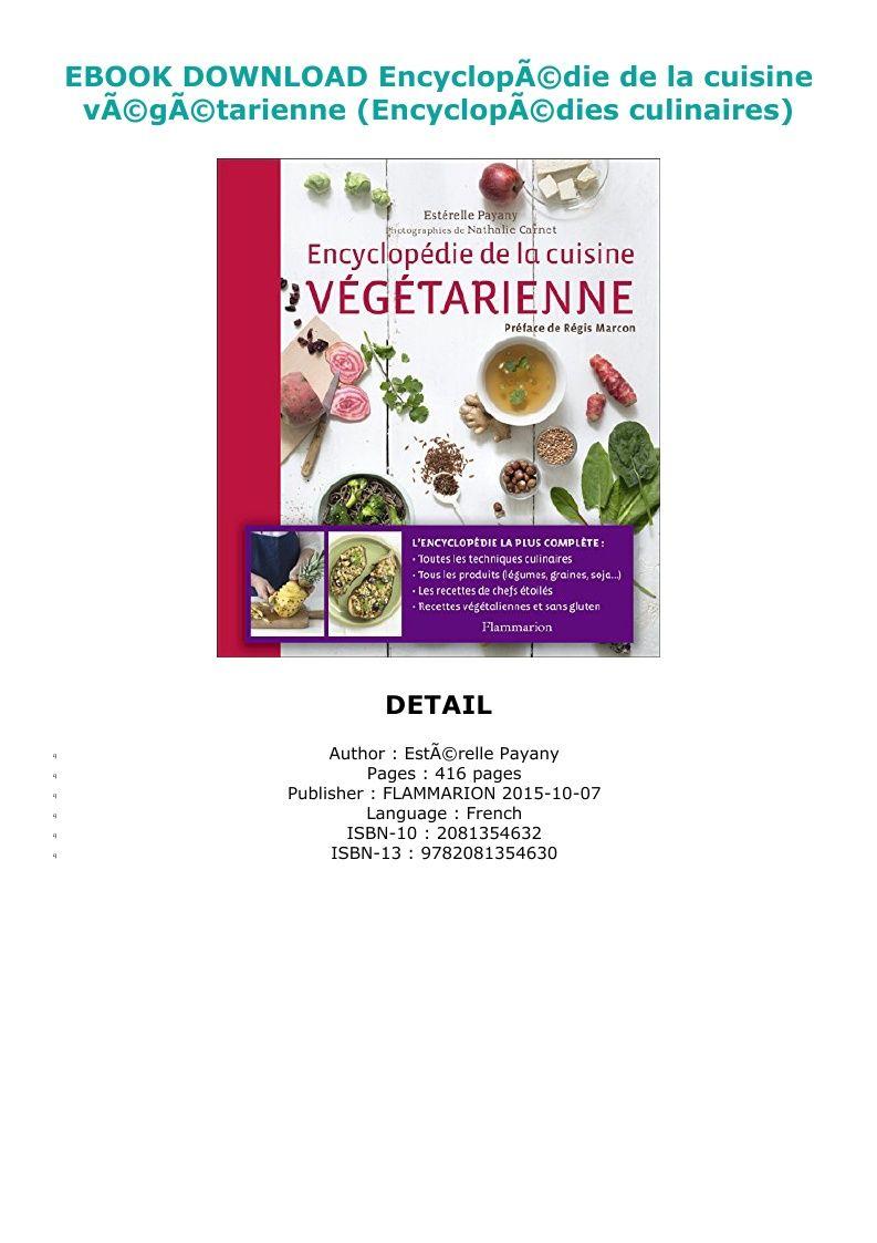Download Pdf Encyclopa C Die De La Cuisine Va C Ga C Tarienne Encyclopa