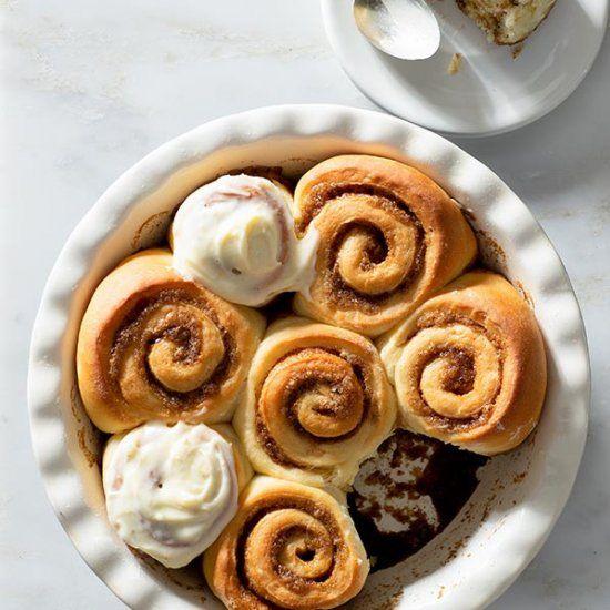 No-Knead Cinnamon Rolls  #food #foodie #foodphotography #yummy #delicious #foodblogger #foodlover #foodgasm #dinner #healthyfood #foodies #lunch #restaurant #tasty #eat #healthy #homemadenbsp #breakfast