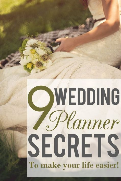 9 Secrets From Wedding Planners