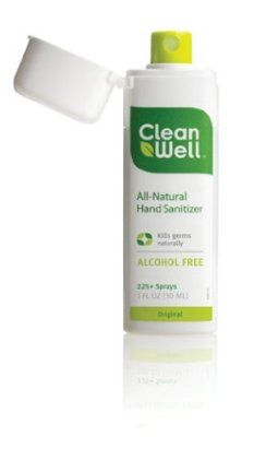 Cleanwell Hand Sanitizer Spray With Thyme Oil No Alcohol Or