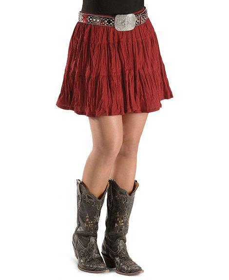 21a5c07636f Cattlelac Ranch Short Broomstick Skirt