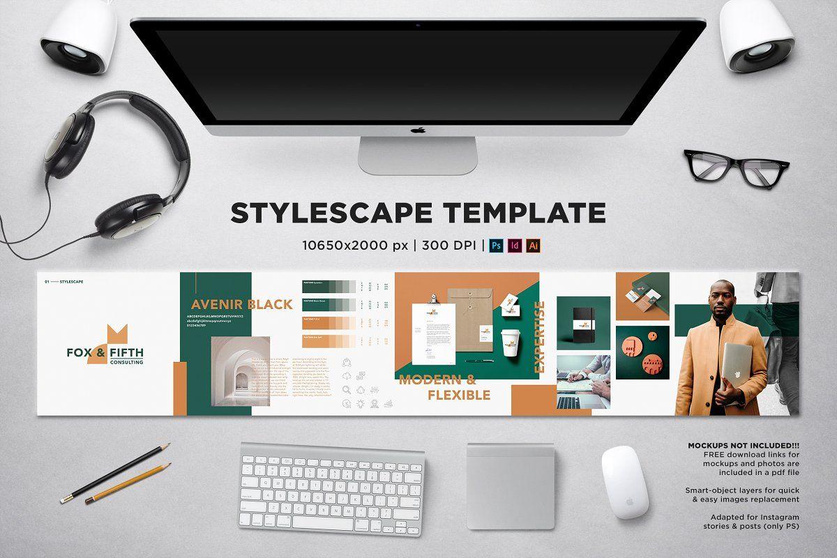 Stylescape Moodboard Template In 2020 Mood Board Template