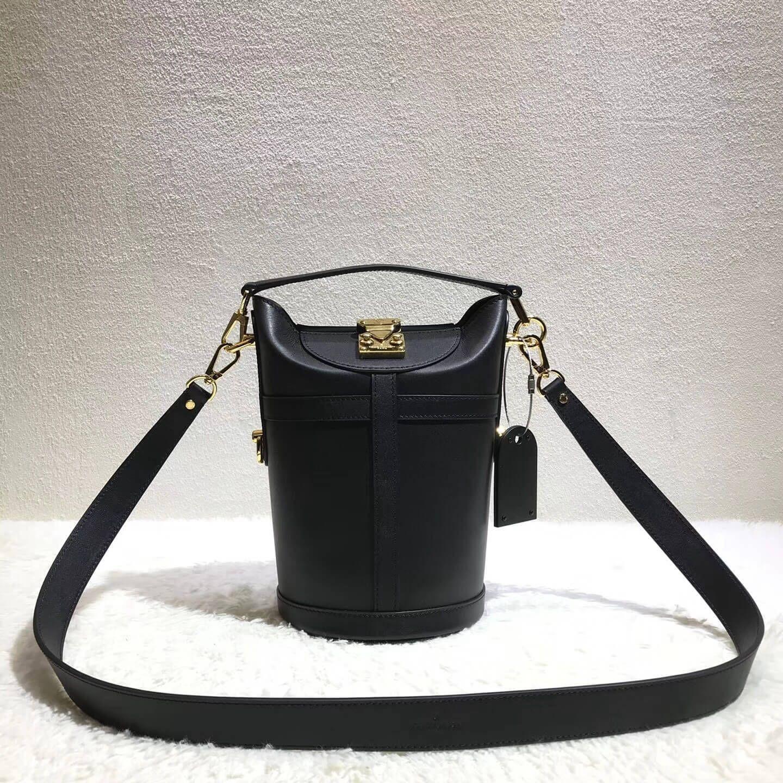 Louis Vuitton Black Calfskin Bucket Bag 2018 Black Louis Vuitton Bag Louis Vuitton Bucket Bag Louis Vuitton Handbags