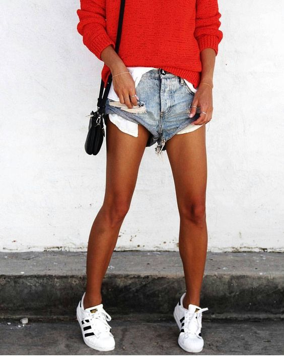 Nothing beats tan legs with denim shorts. nothing.  8f602c2cb45