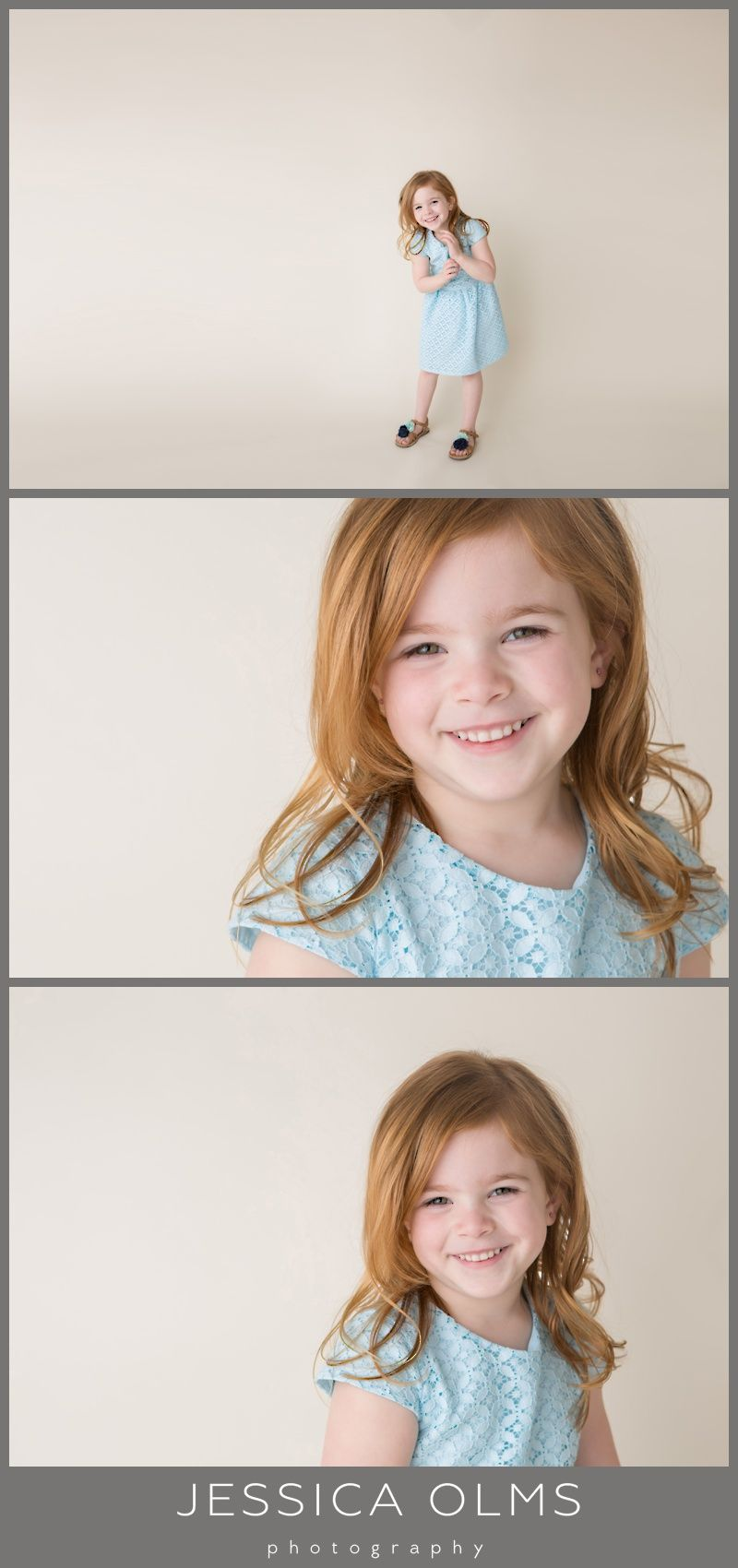 Five year old picture ideas blue dress redhead photography