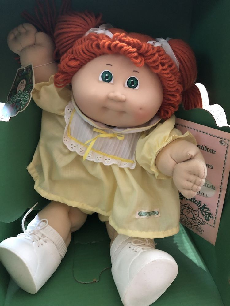 1984 New Cabbage Patch Doll Red Hair Green Eyes Original Clothing Still With Box Kids Memories Cabbage Patch Dolls Cabbage Patch Kids Dolls