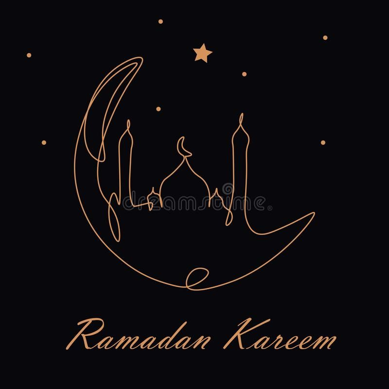 Ramadan Kareem Moon Arabic Greetings Card Vector Illustration Ramadan Kareem M Sponsored Moon Arabic Rama Ramadan Ramadan Kareem Vector Illustration