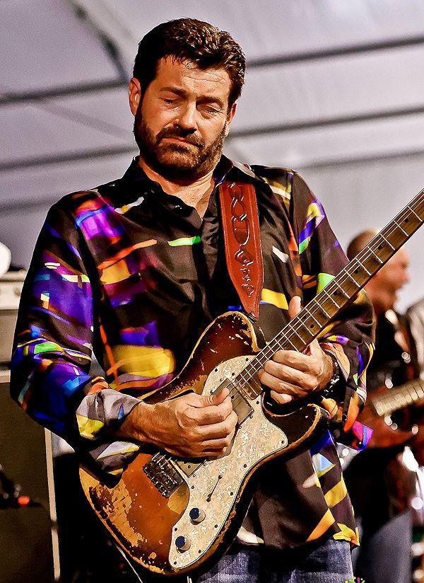Tab Benoit And 1972 Fender Telecaster Long Sleeve T-Shirt ...   Tab Benoit Telecaster