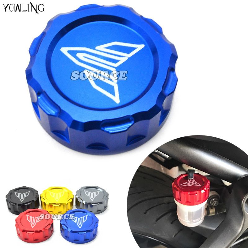 Rear Brake Reservoir Cover Caps CNC Cylinder Reservoir Cover Motorcycle Accessories for Yamaha MT07 MT-07 MT09 MT-09 FZ09 2014 2015 2016