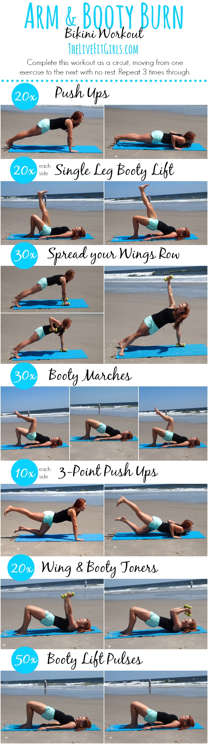 Arms and Booty Burn! Bikini Workout #weightlossmotivation
