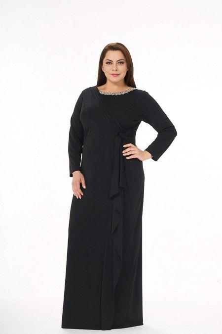 Lilas Xxl Siyah Likrali Abiye Elbise Online Satis Indirimli Satin Al Mutevazi Kiyafetler Elbise Kiyafet