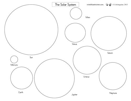 The Solar System Free Printables From Waddleeahchaa Com