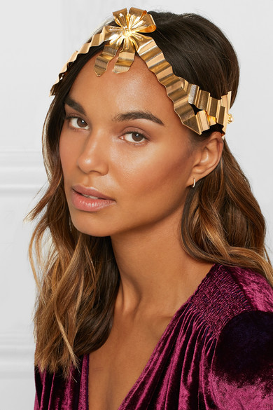 9d33083d5e7 Gucci - Gold-plated And Faux Pearl Headband - Brass