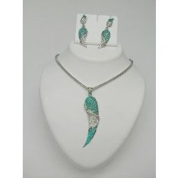 Exotic Silver & Teal Blue Silver Plated Jewelry