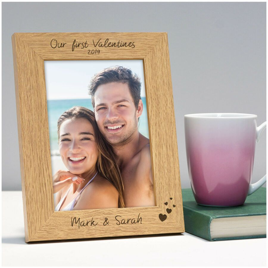 PERSONALISED COUPLE GIFT FRAME PICTURE ENGAGEMENT ANNIVERSARY VALENTINES DAY