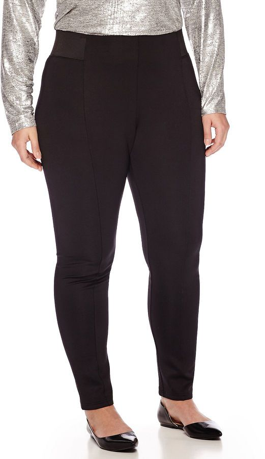 WORTHINGTON Worthington Exposed-Elastic Scuba Leggings - Plus ** You can find out more details at the link of the image.