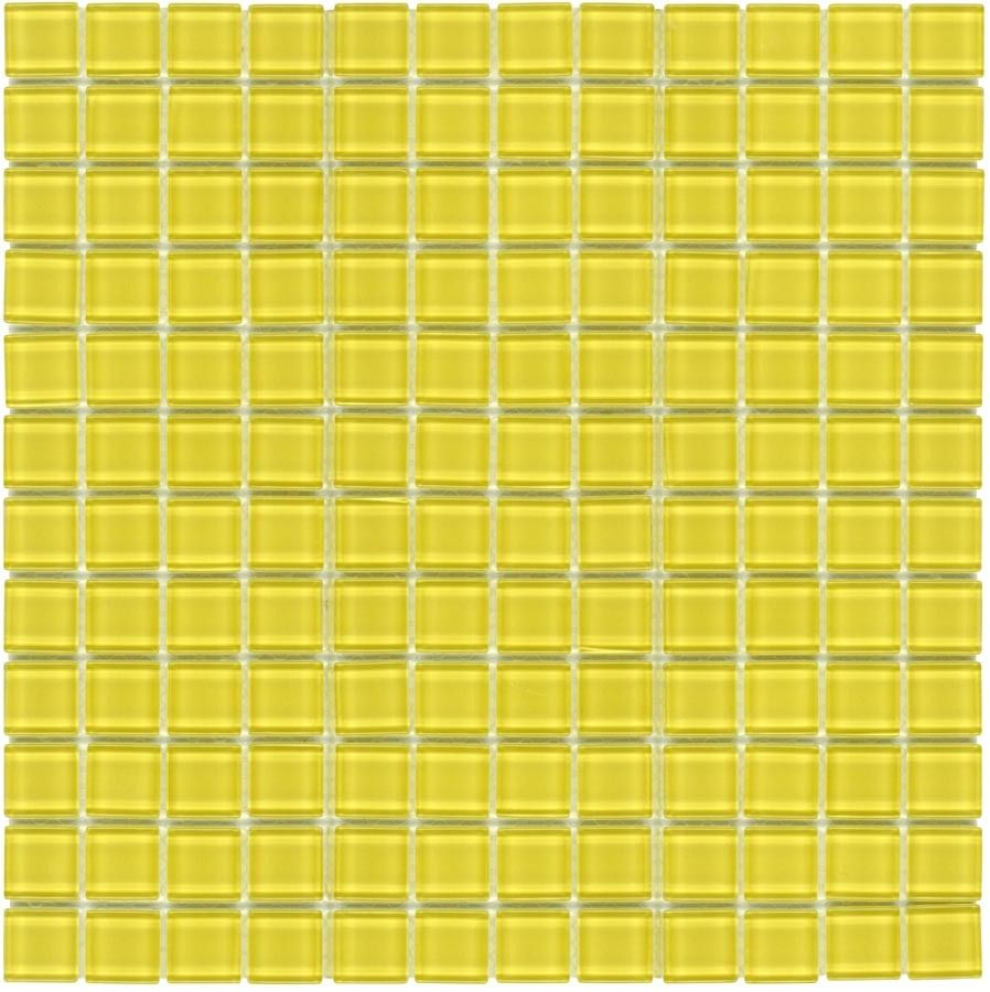 mineral tiles glass mosaic tile backsplash yellow 1x1 9 95