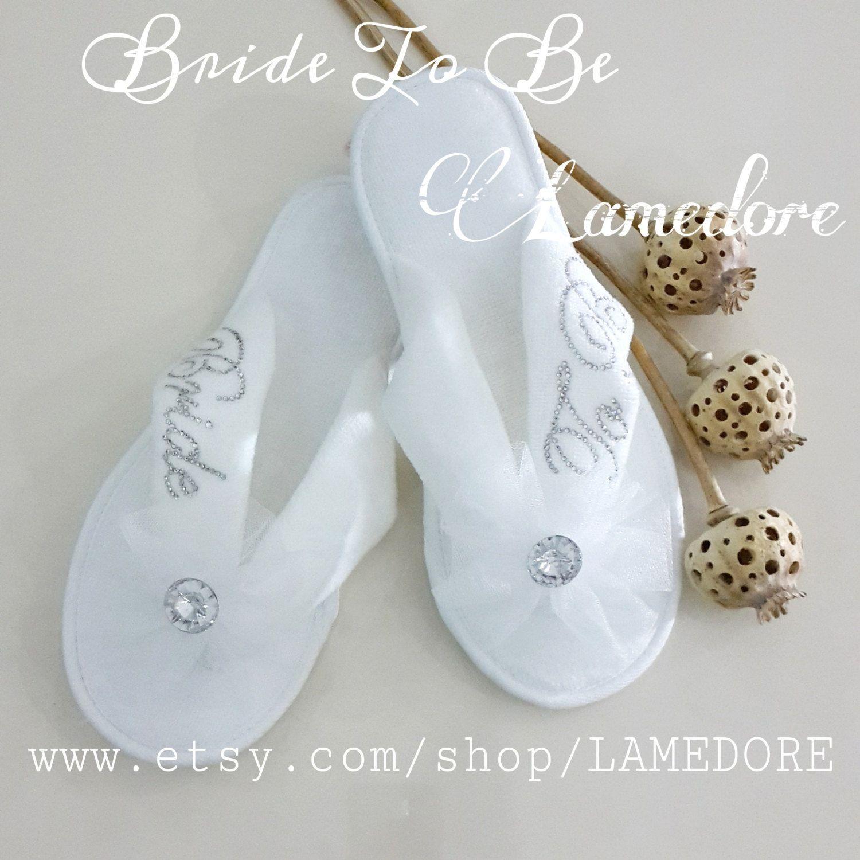 Wedding Slippers: Brides Wedding Slippers Honeymoon Slippers