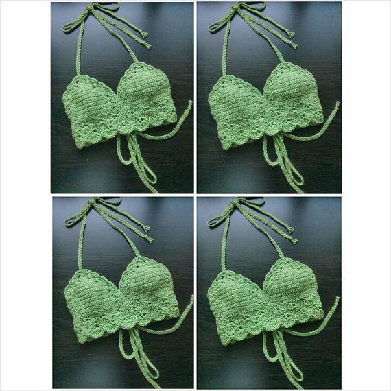 Traditional Festival Top Crochet Crop Top por LostCulture en Etsy
