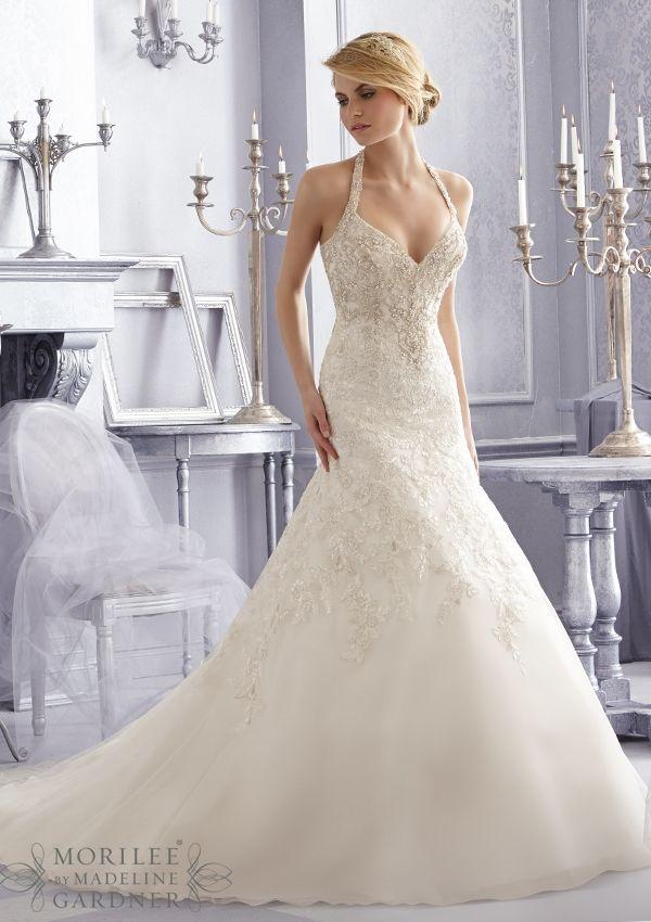 2687 Vestidos de novia / Vestidos 2687 moldeado cristalino del ...