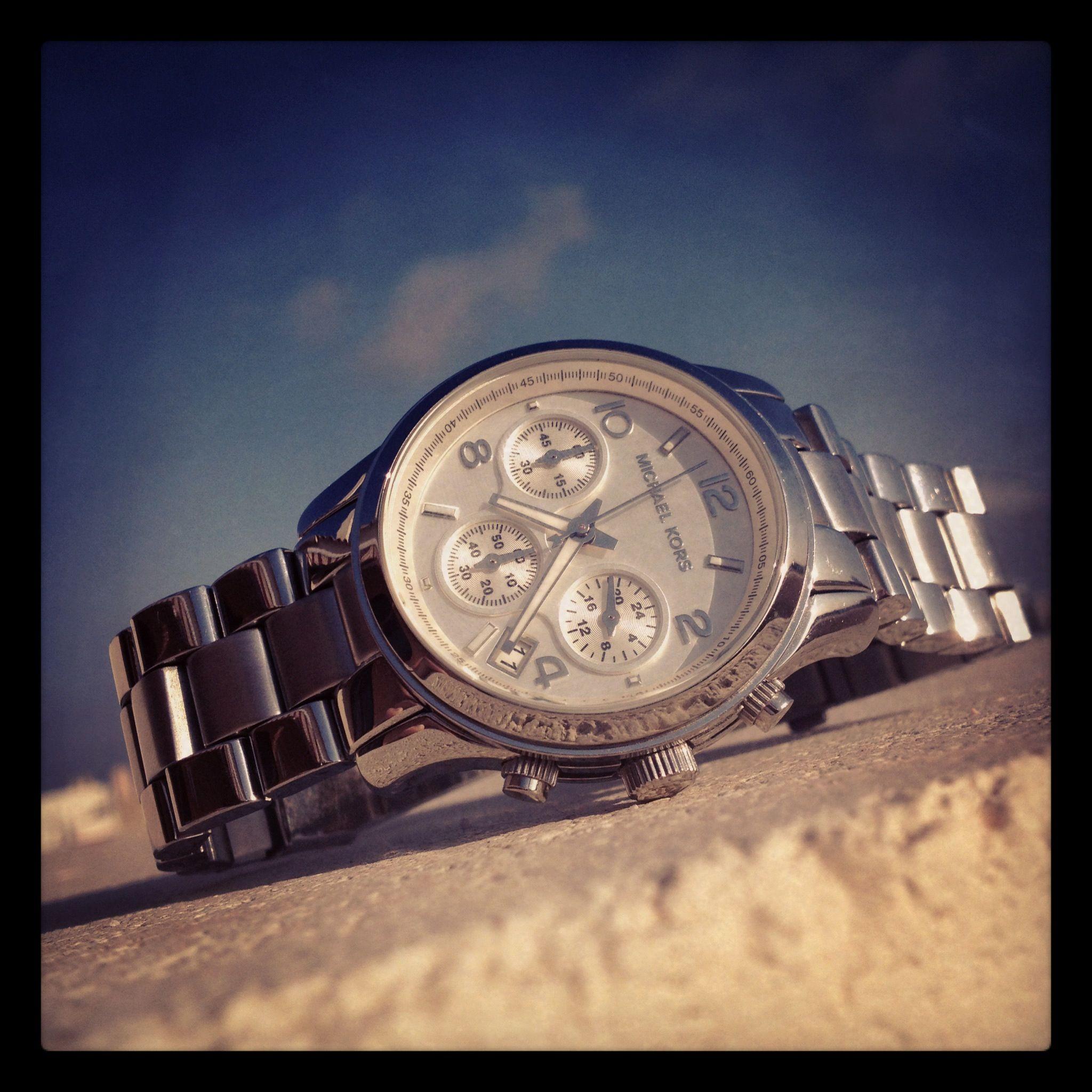 velvetywhims michael kors summer wrist silver watch sky