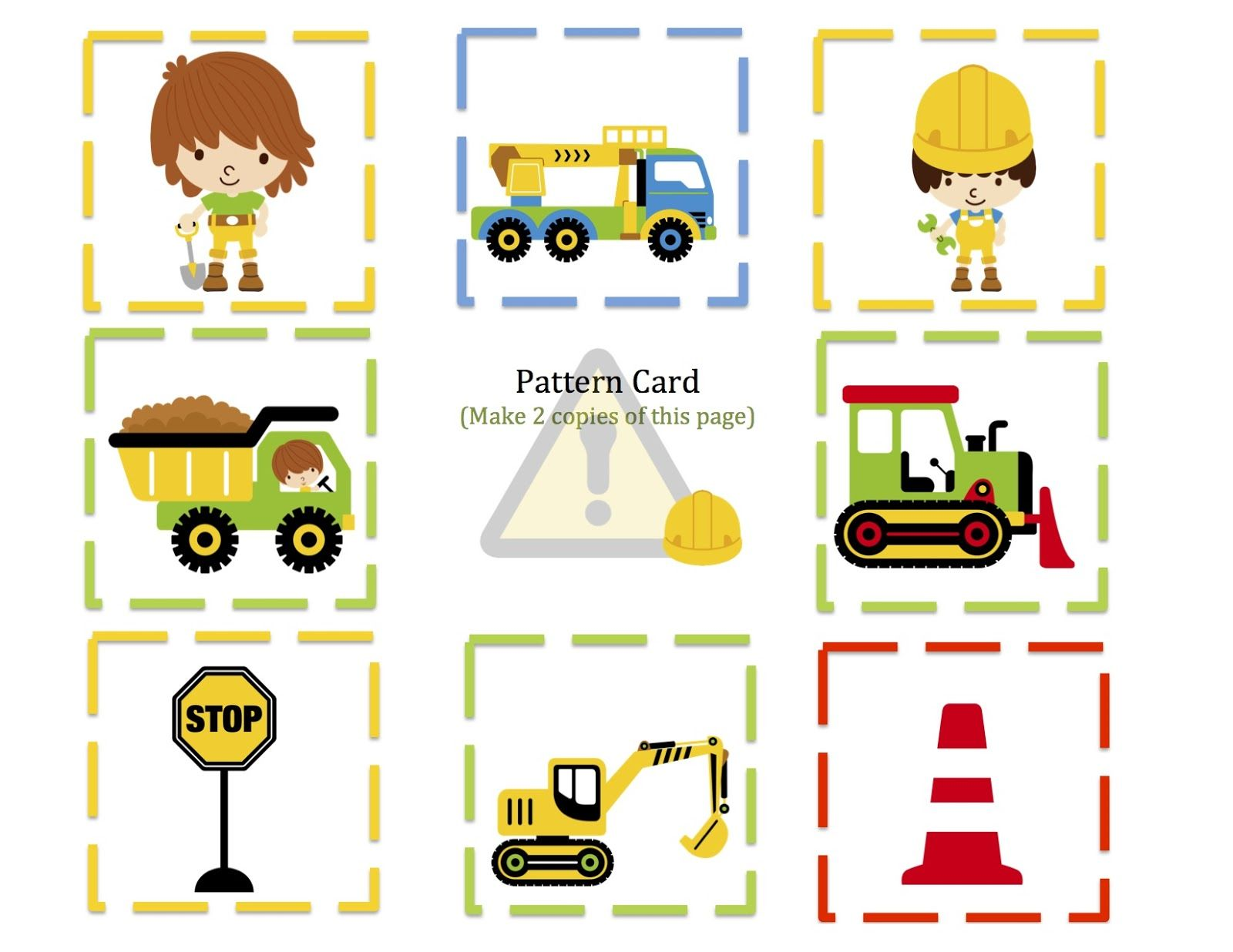 Preschool Printables Construction Zone Printable