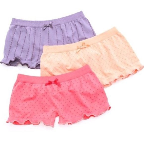 Free People Seamless Dot Booty Shorts 3-Pack brand new with tags Free People Multicolor Seamless Dot Booty Shorts 3-Pack.  Very cute, soft and comfy, stretchy seamless booty shorts in pastel colors  Free People Intimates & Sleepwear Panties