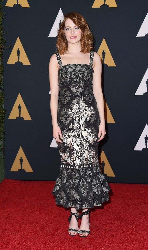 Emma Stone Photos Photos Academy Of Motion Picture Arts And Sciences 8th Annual Governors Awards Arrivals Emma Stone Style Celebrity Red Carpet Event Dresses