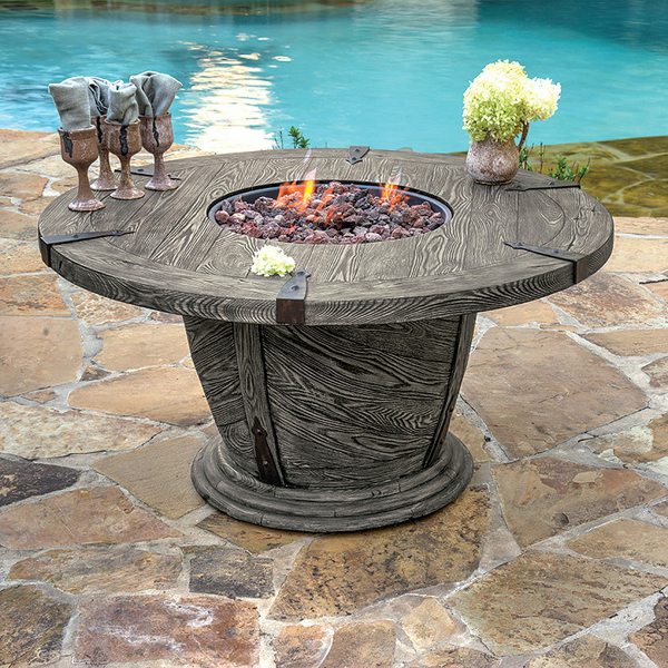 Family Living Room Design Ideas That Will Keep Everyone Happy: Old World Gas Fire Pit Table By Veranda Classics