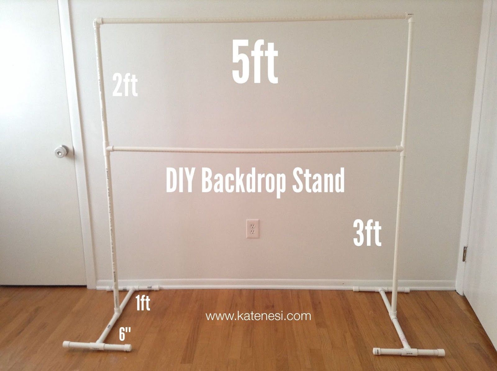 DIY Studio Backdrop Stand out of PVC Pipes for 20