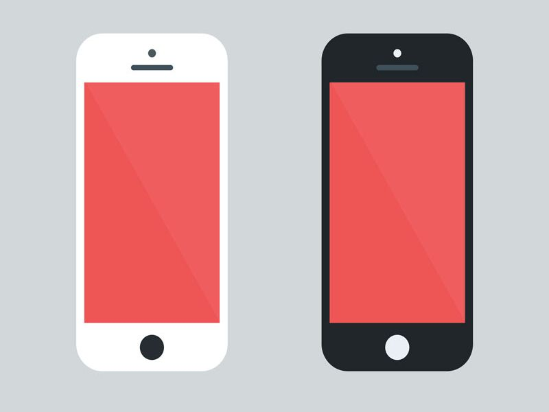 FREEBIE] Flat iPhone 5 mockup by Othmane Machrouh / Psddd ...