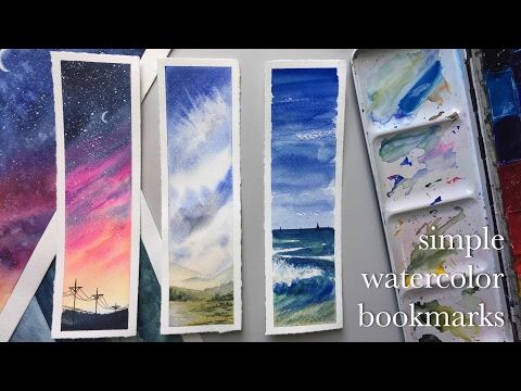 Making Watercolor Bookmarks Youtube Watercolor Bookmarks