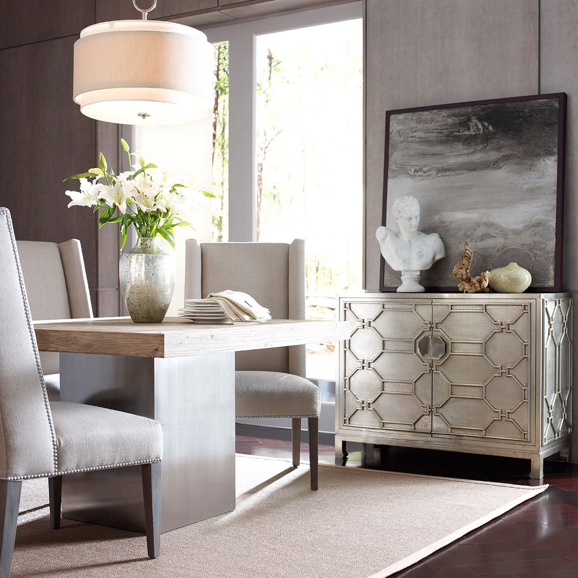 Brownstone Treviso German Silver Chest Zinc_Door  Cool Chest For Enchanting Dining Room In German Design Ideas