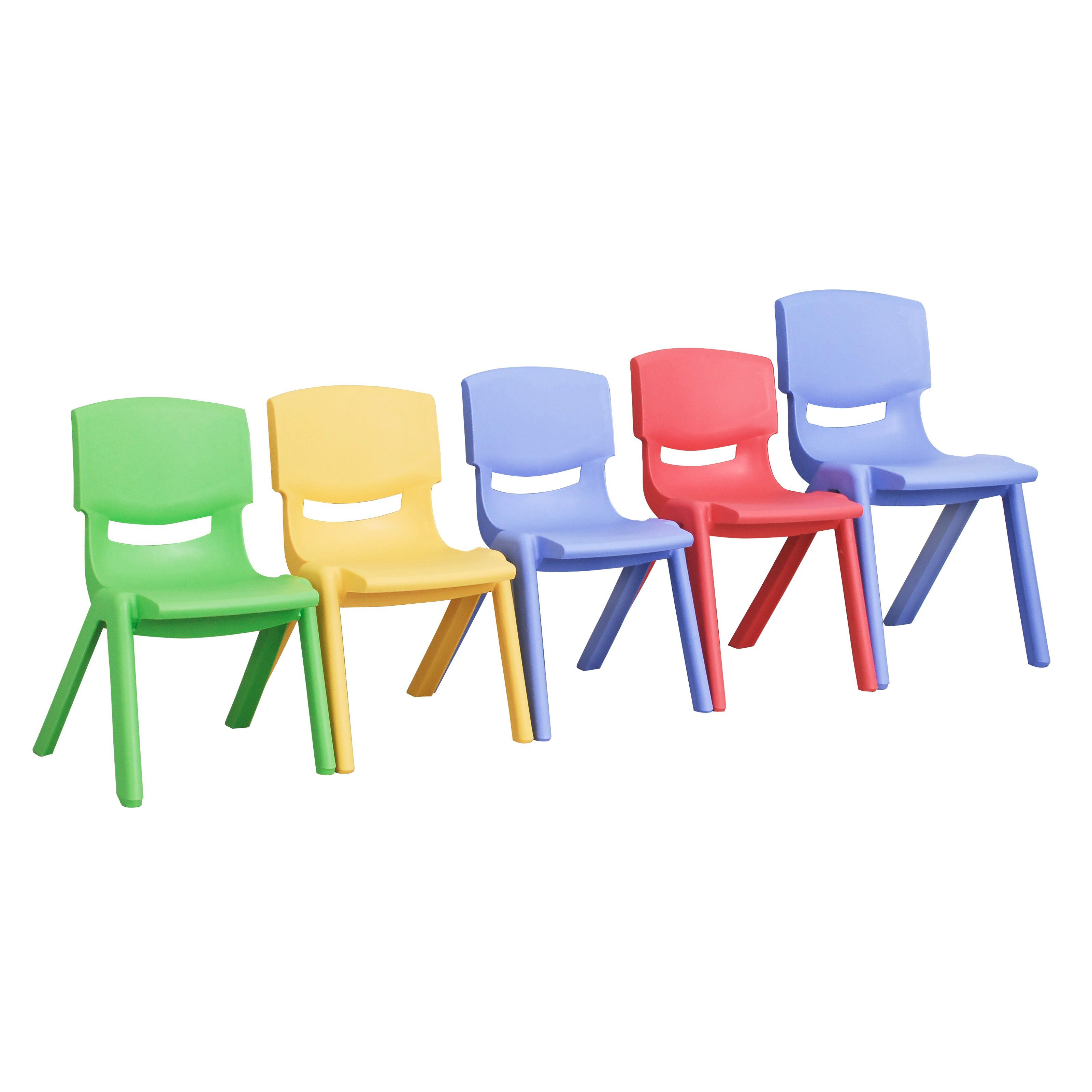 Have To Have It Ecr4kids Plastic Stackable Chair Set Of 6 Chairs