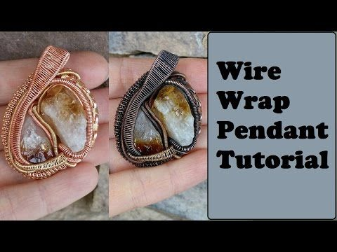 Heady style wire wrapped pendant tutorial rough stonescrystals heady style wire wrapped pendant tutorial rough stonescrystals youtube aloadofball Gallery
