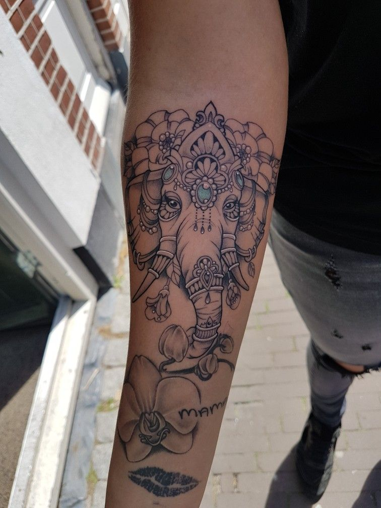 Ganesha Tattoo Elephant Inked Gem Orchid God Female Elephant Tattoo Design Henna Elephant Tattoos Tattoos
