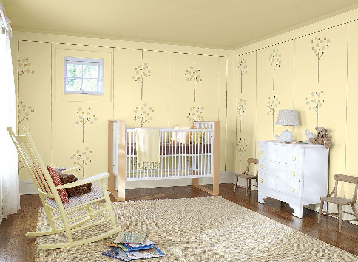 Interior Paint Ideas and Inspiration | Yellow kids rooms, Nursery ...
