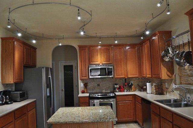 Led kitchen track lighting option led lighting for Track lighting kitchen ideas