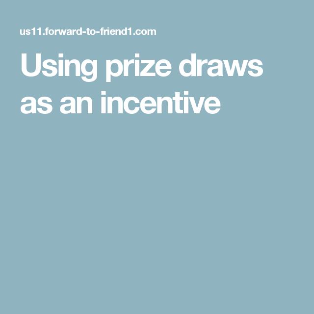 Using prize draws as an incentive | Behaviour Change