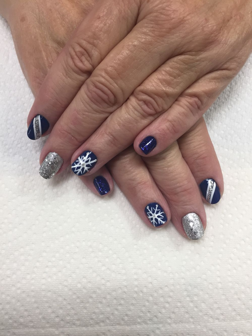 Manicure With Nail Designs Winter By Rebeca At Beauty And The Beach