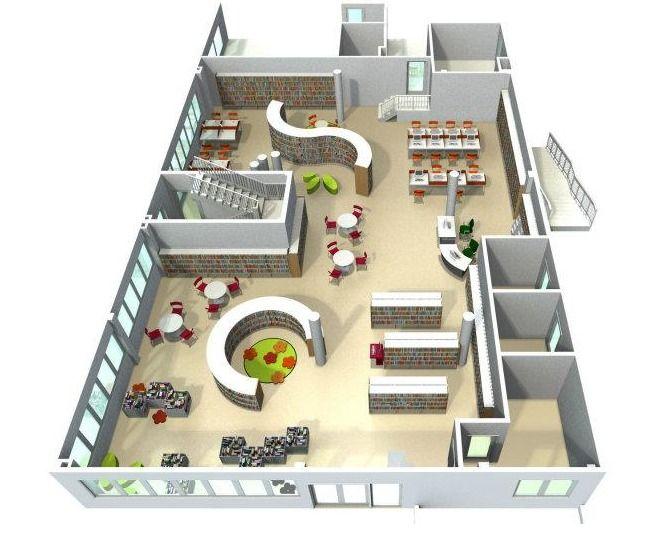 Bci Library Floor Plan Layout Https Www Facebook Com Photo Php Fbid 10150468943220773 Set School Library Design Library Floor Plan Library Architecture