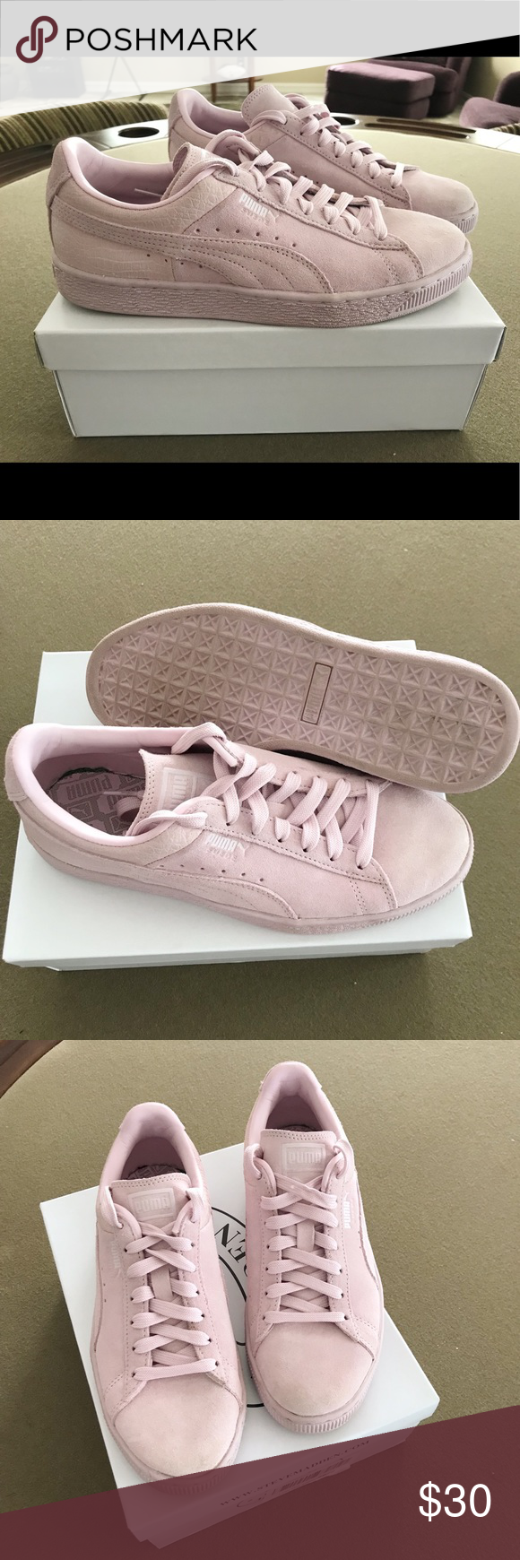53e8bc95ac12ae Light pink suede puma shoes png 580x1740 Light pink suede pumas