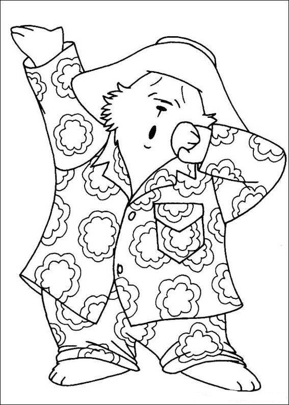Coloring Page Paddington Bear Paddington Bear On Kids N Fun Co Uk