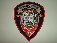 Melbourne Police Patch Florida Police Patches Police Patches