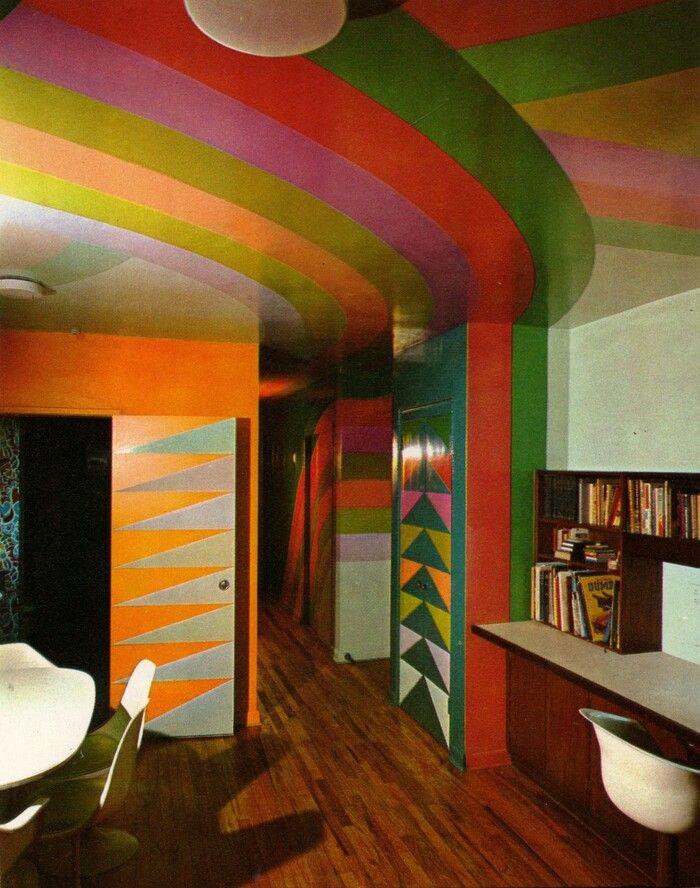 So Colourful Retro Interior Retro Interior Design Vintage Interior Design