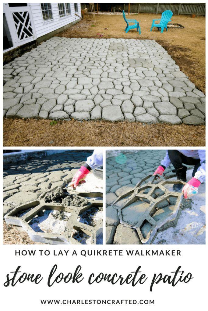 So erstellen Sie eine QUIKRETE WalkMaker-Terrasse
