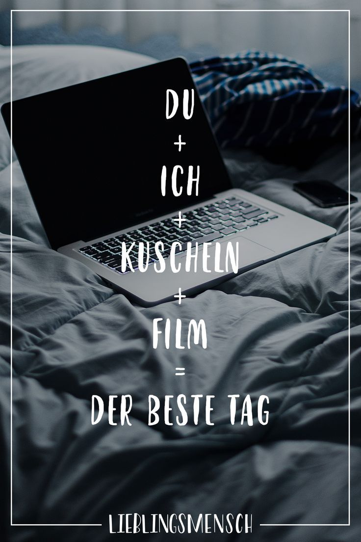Visual Statements®️ Du + ich + cuddle + Film = the best day. Sayings / Quotes / ...  #cuddle #quotes #sayings #statements #visual