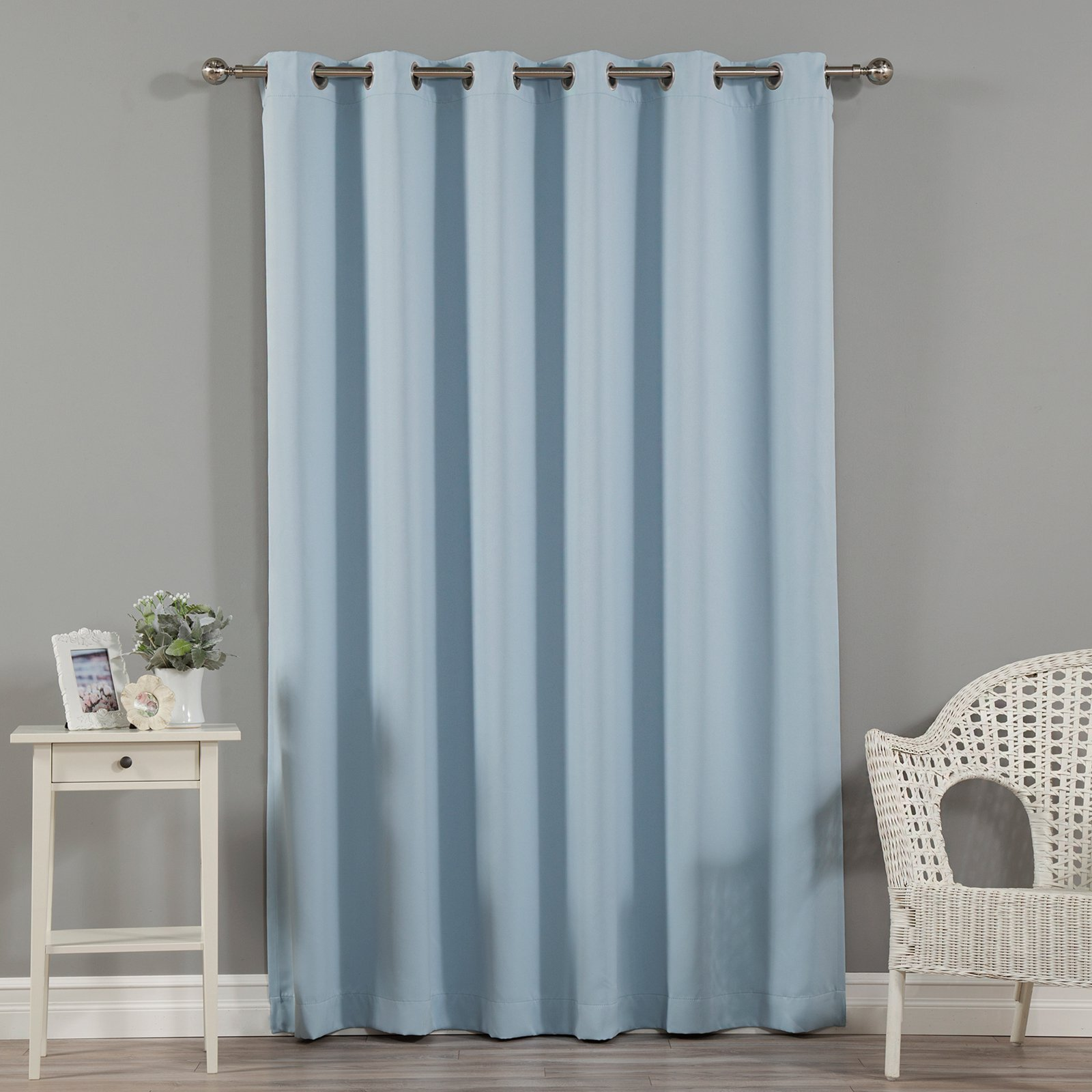 Best Home Fashion Wide Width Grommet Blackout Single Curtain Panel